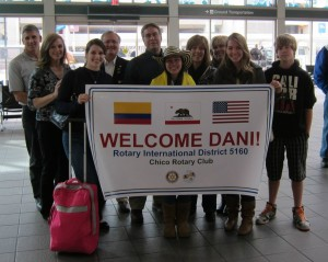 2013-2014 Dani from Colombia arriving in California!