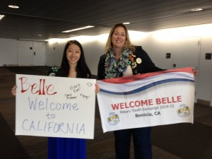 2014-2015 Belle with her Counselor Amy!