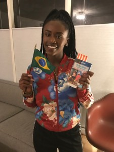 Ru (2018-19 Outbound) just found out she's going to Brazil!